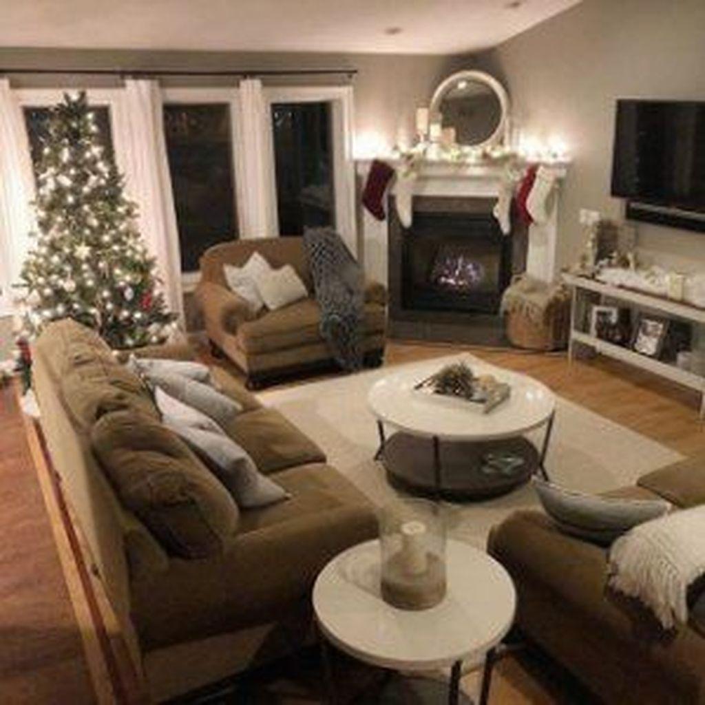 Stunning Corner Fireplace Design For Living Room 10