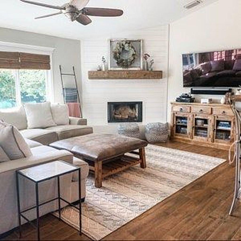 Stunning Corner Fireplace Design For Living Room 21