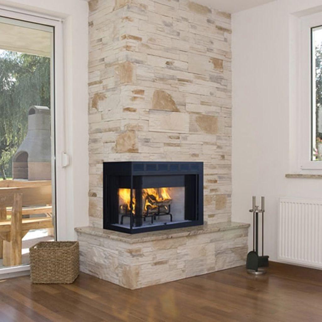 Stunning Corner Fireplace Design For Living Room 22