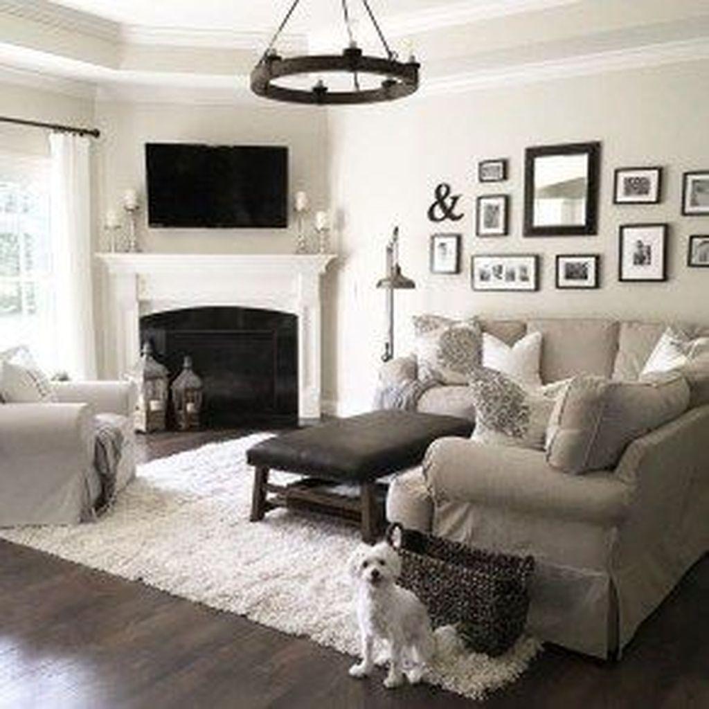 Stunning Corner Fireplace Design For Living Room 30