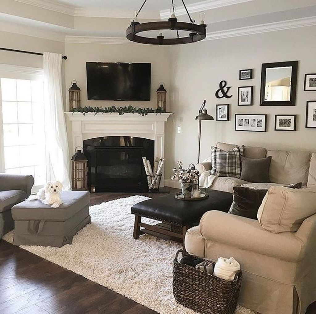 Stunning Corner Fireplace Design For Living Room 32