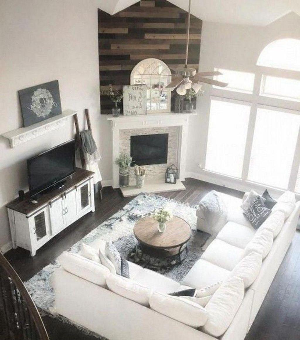 Stunning Corner Fireplace Design For Living Room 40