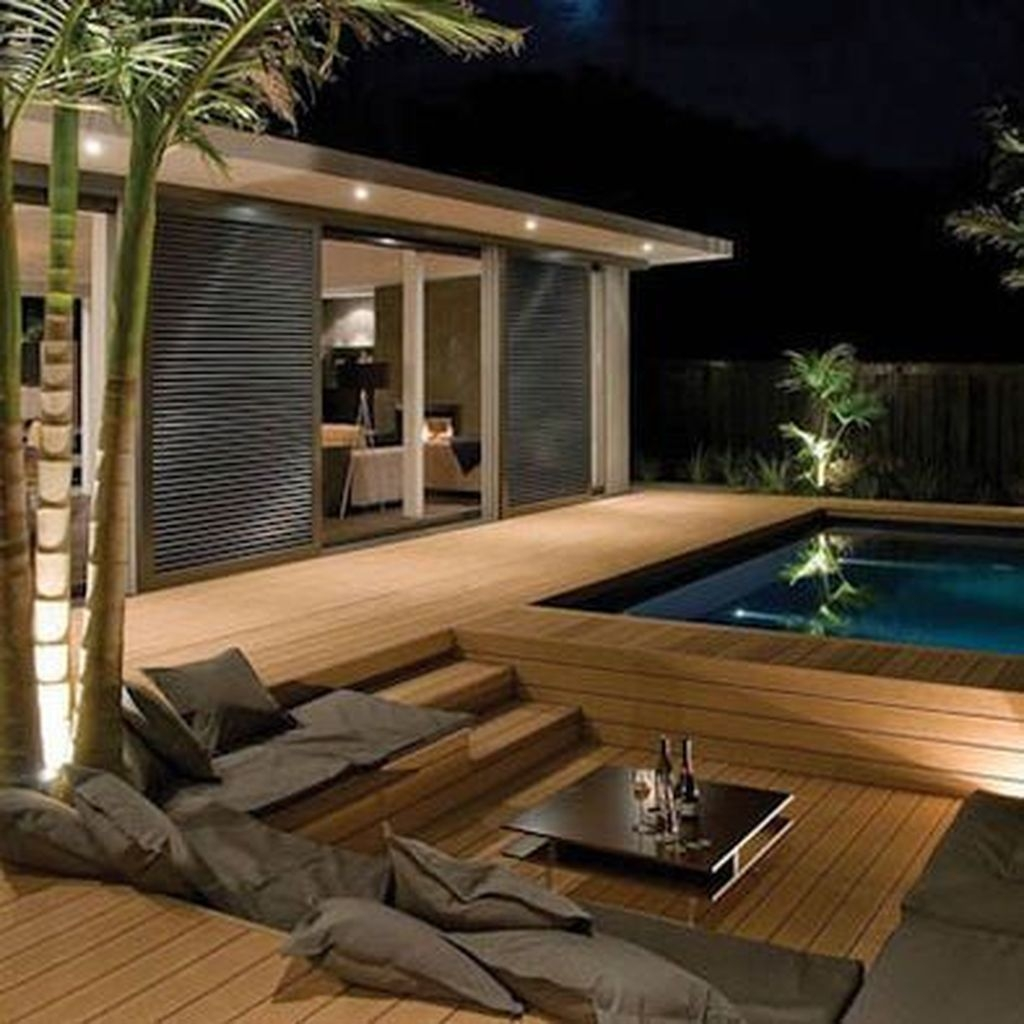 Totally Difference Pool Seating Ideas To Beautify Your Backyard 03