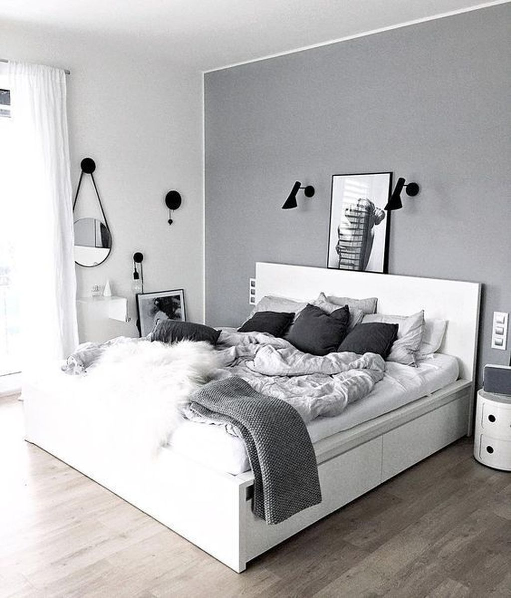 Fabulous White Bedroom Ideas To Make Your Sleep Comfortable 30