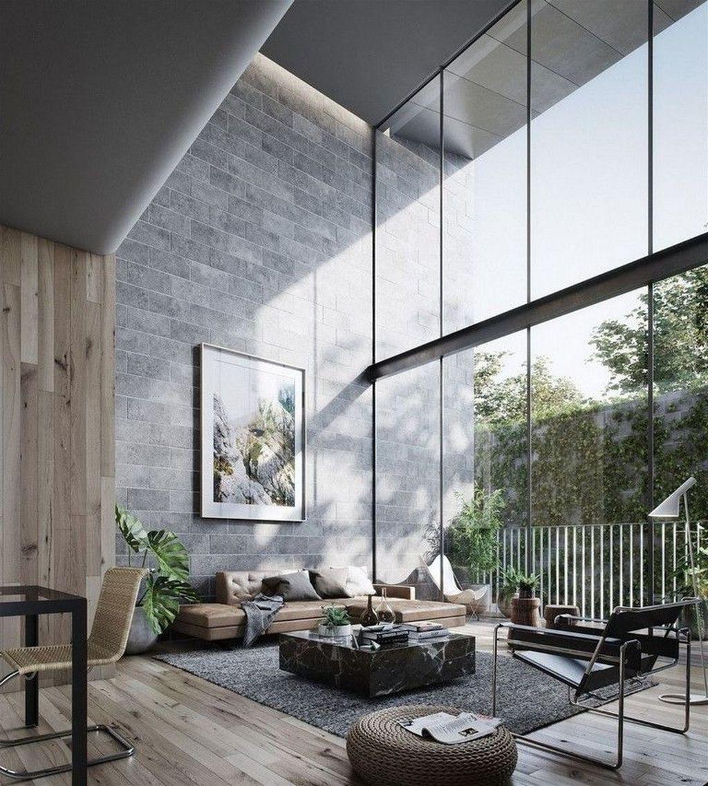 Gorgeous Industrial Living Room Design And Decoration Ideas 04
