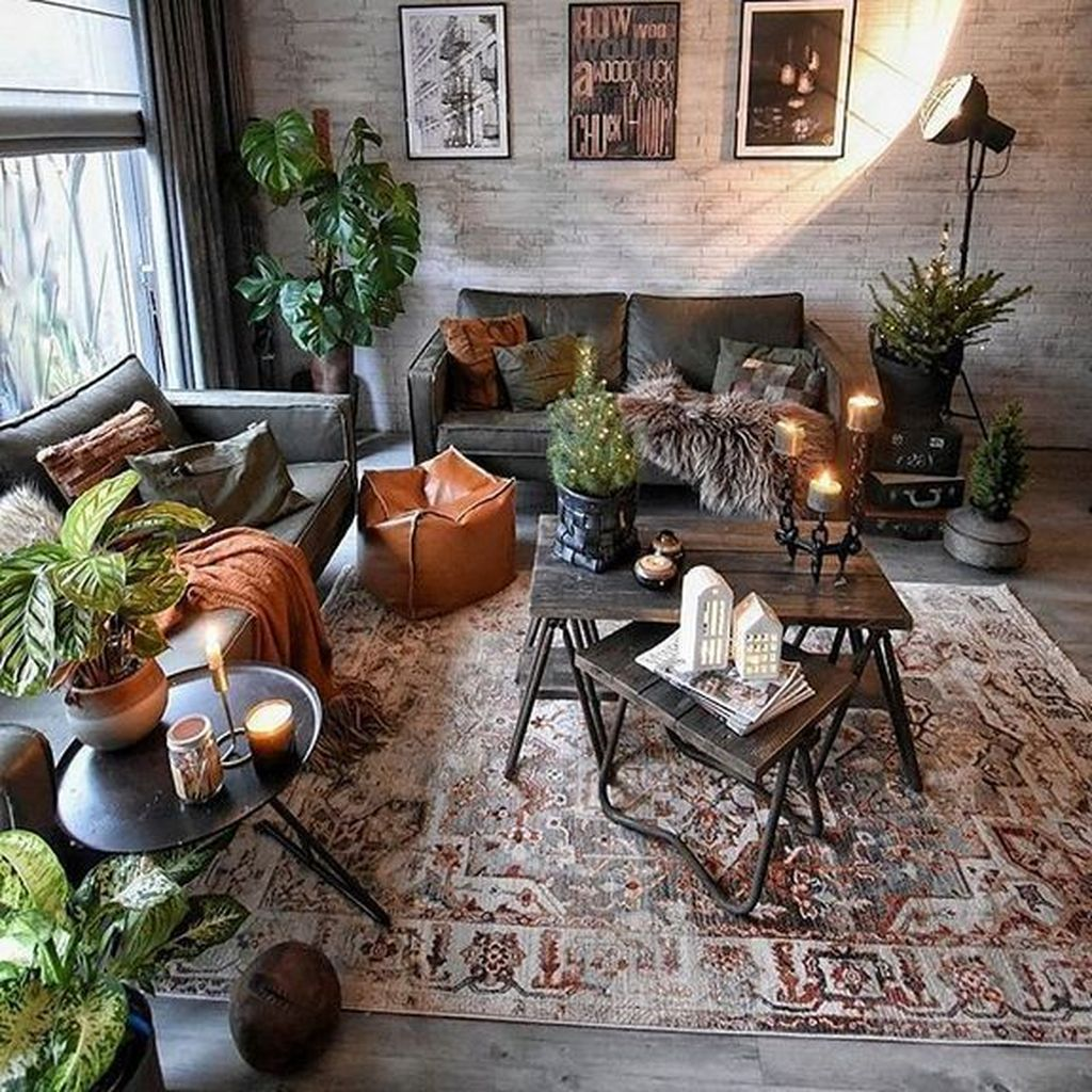 Gorgeous Industrial Living Room Design And Decoration Ideas 14