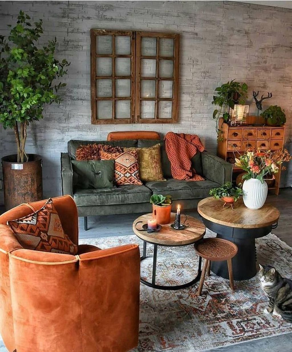 Gorgeous Industrial Living Room Design And Decoration Ideas 23