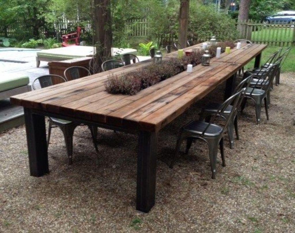 Inspiring Outdoor Dining Table Design Ideas 09