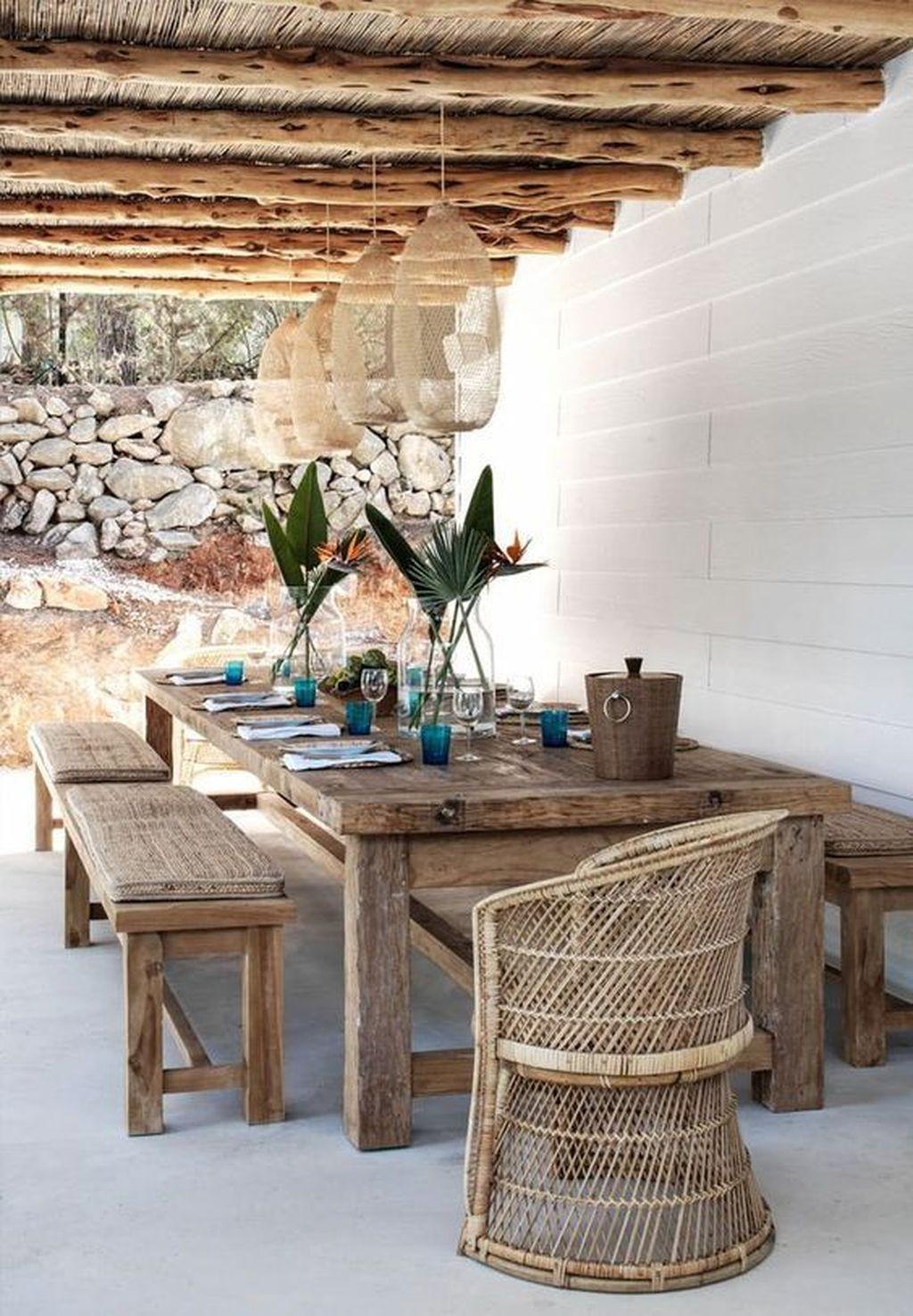 Inspiring Outdoor Dining Table Design Ideas 21