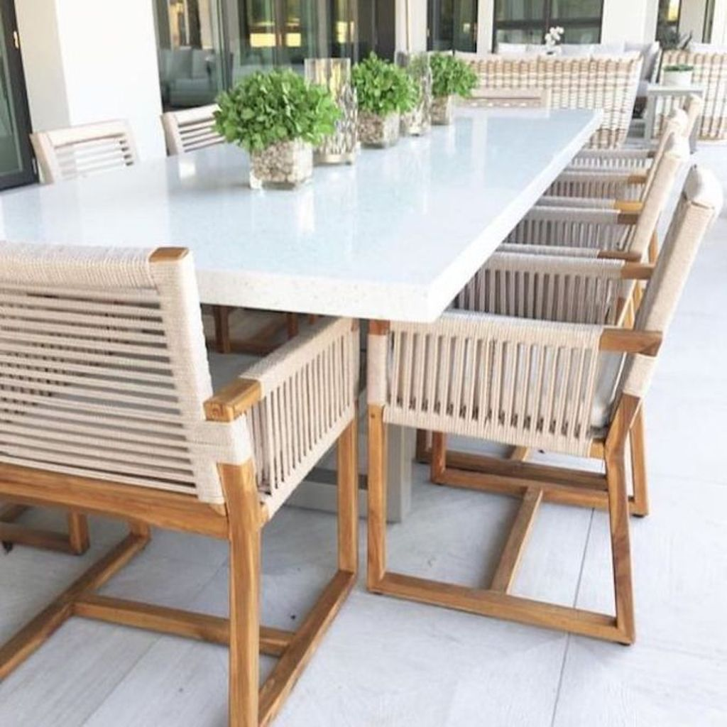 Inspiring Outdoor Dining Table Design Ideas 25