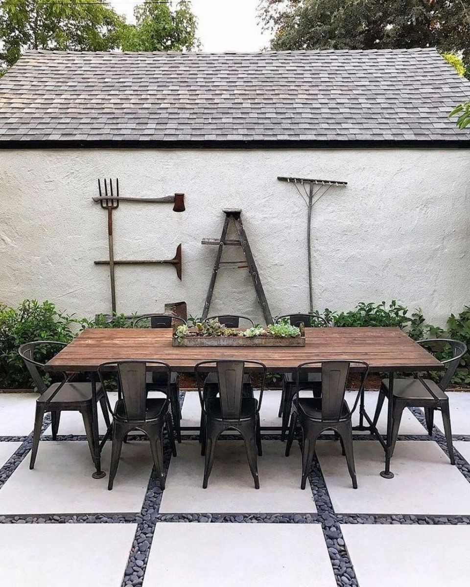 Inspiring Outdoor Dining Table Design Ideas 26