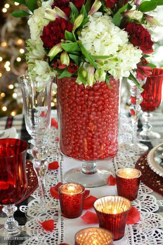 Inspiring Romantic Dining Table Decor Ideas 10