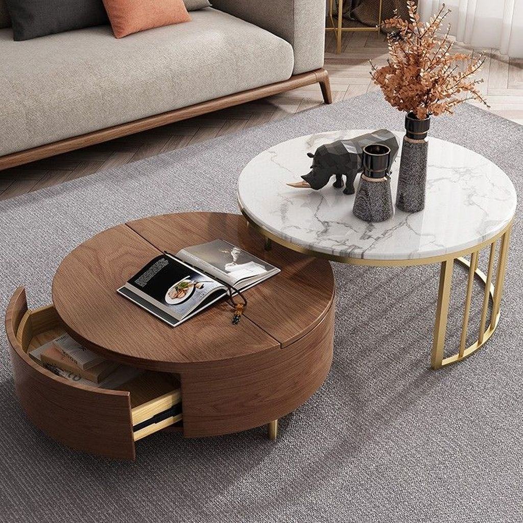 Stunning Coffee Table Design Ideas To Decorate Your Living Room 01
