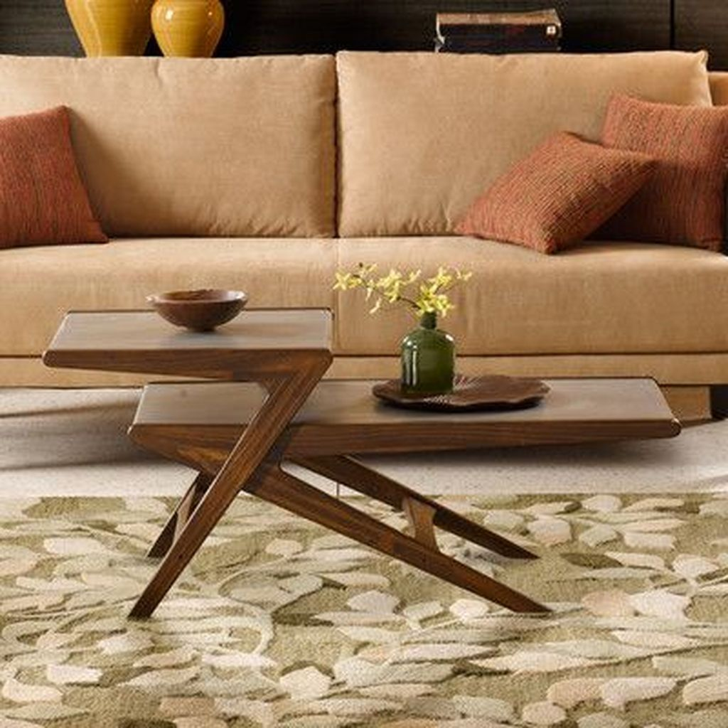 Stunning Coffee Table Design Ideas To Decorate Your Living Room 17