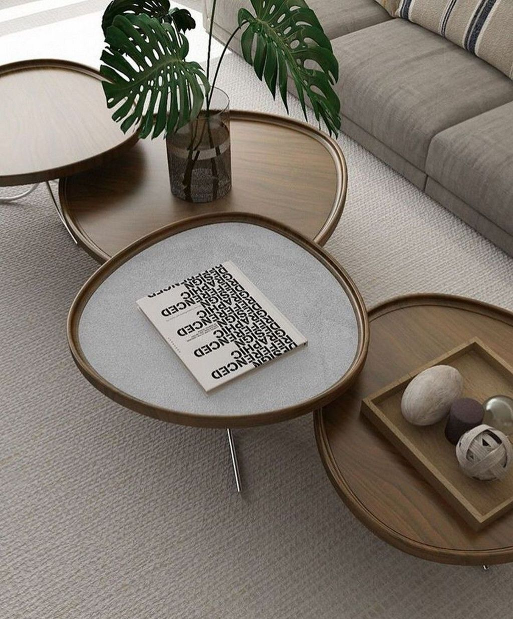 Stunning Coffee Table Design Ideas To Decorate Your Living Room 23