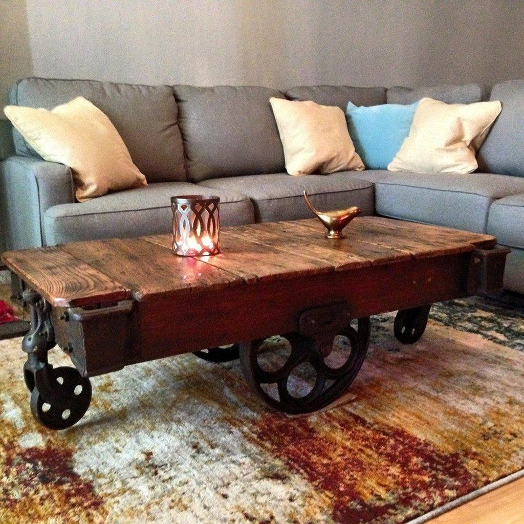 Stunning Coffee Table Design Ideas To Decorate Your Living Room 24