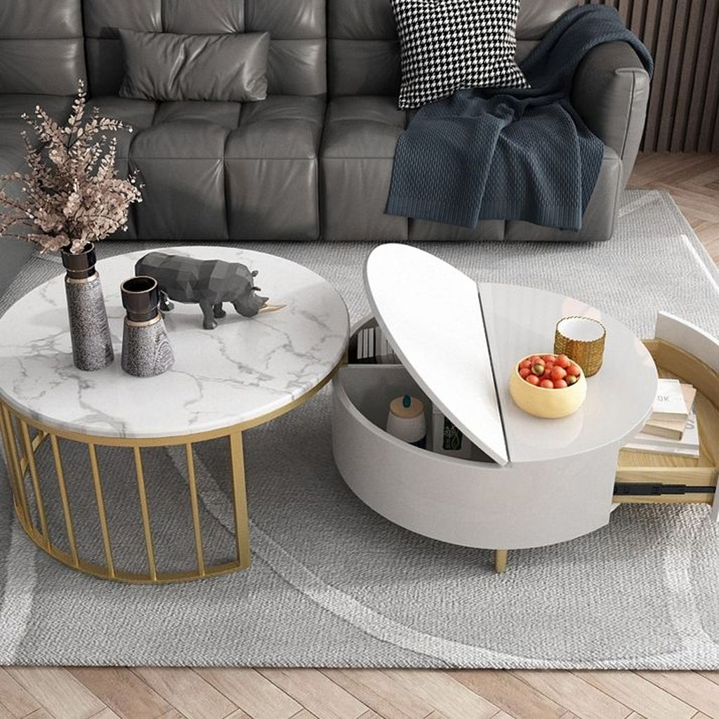 Stunning Coffee Table Design Ideas To Decorate Your Living Room 32