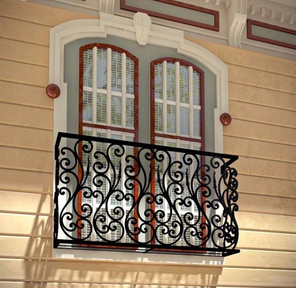 Awesome Balcony Railing Design Ideas To Beautify Your Exterior 20