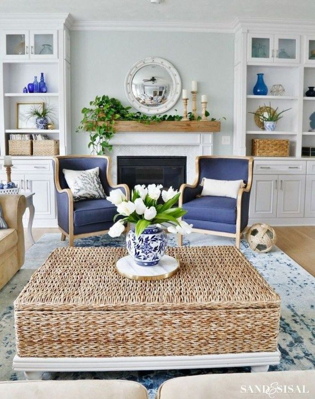 Fabulous Spring Living Room Decor Ideas 24
