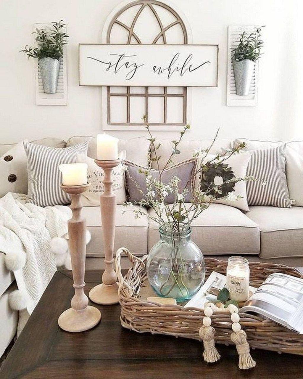 Fabulous Spring Living Room Decor Ideas 34