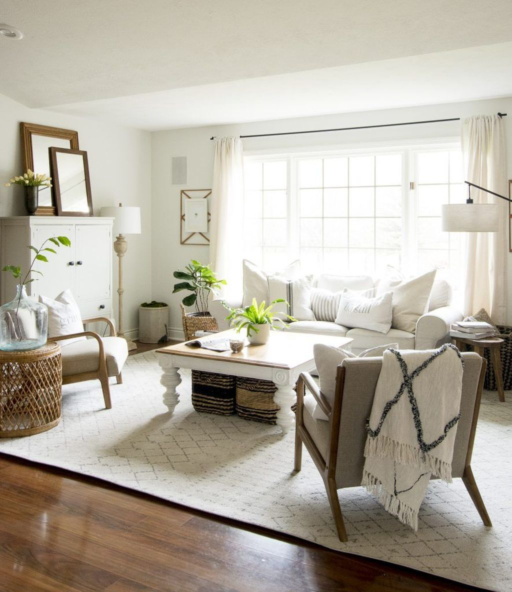 Lovely Modern Farmhouse Living Room Decor Ideas 04