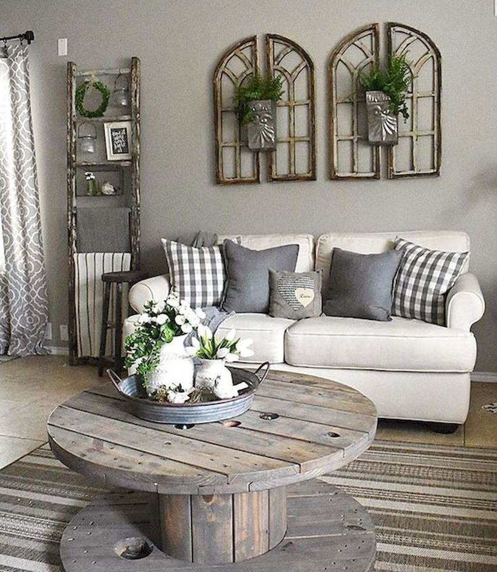 Lovely Modern Farmhouse Living Room Decor Ideas 06