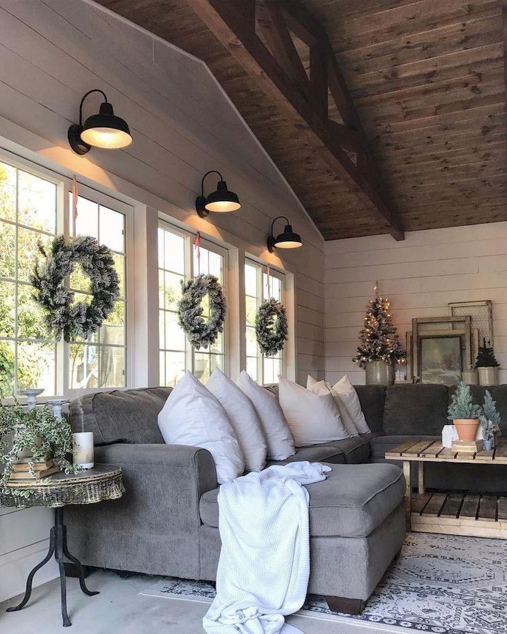 Lovely Modern Farmhouse Living Room Decor Ideas 08