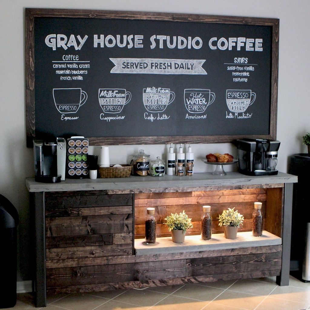 Popular Coffee Bar Ideas For Your Interior Design 22