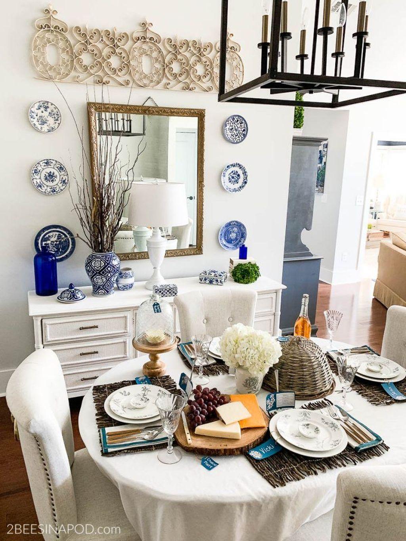 Wonderfull Spring Dining Room Decor Ideas 01