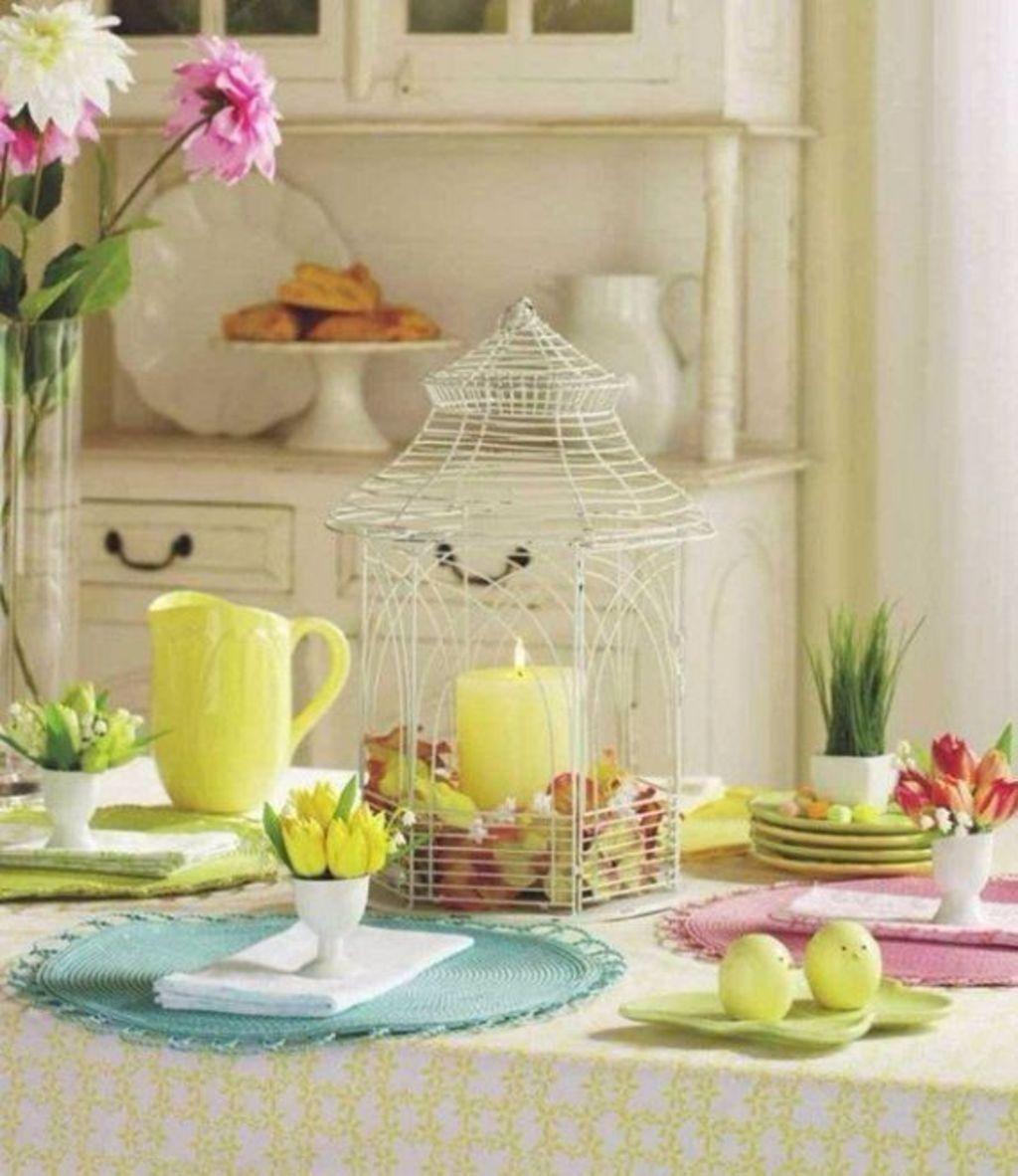 Wonderfull Spring Dining Room Decor Ideas 11