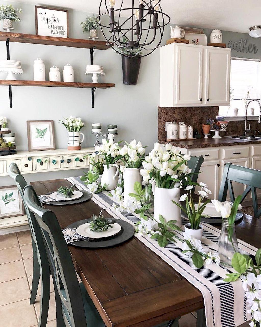 Wonderfull Spring Dining Room Decor Ideas 16
