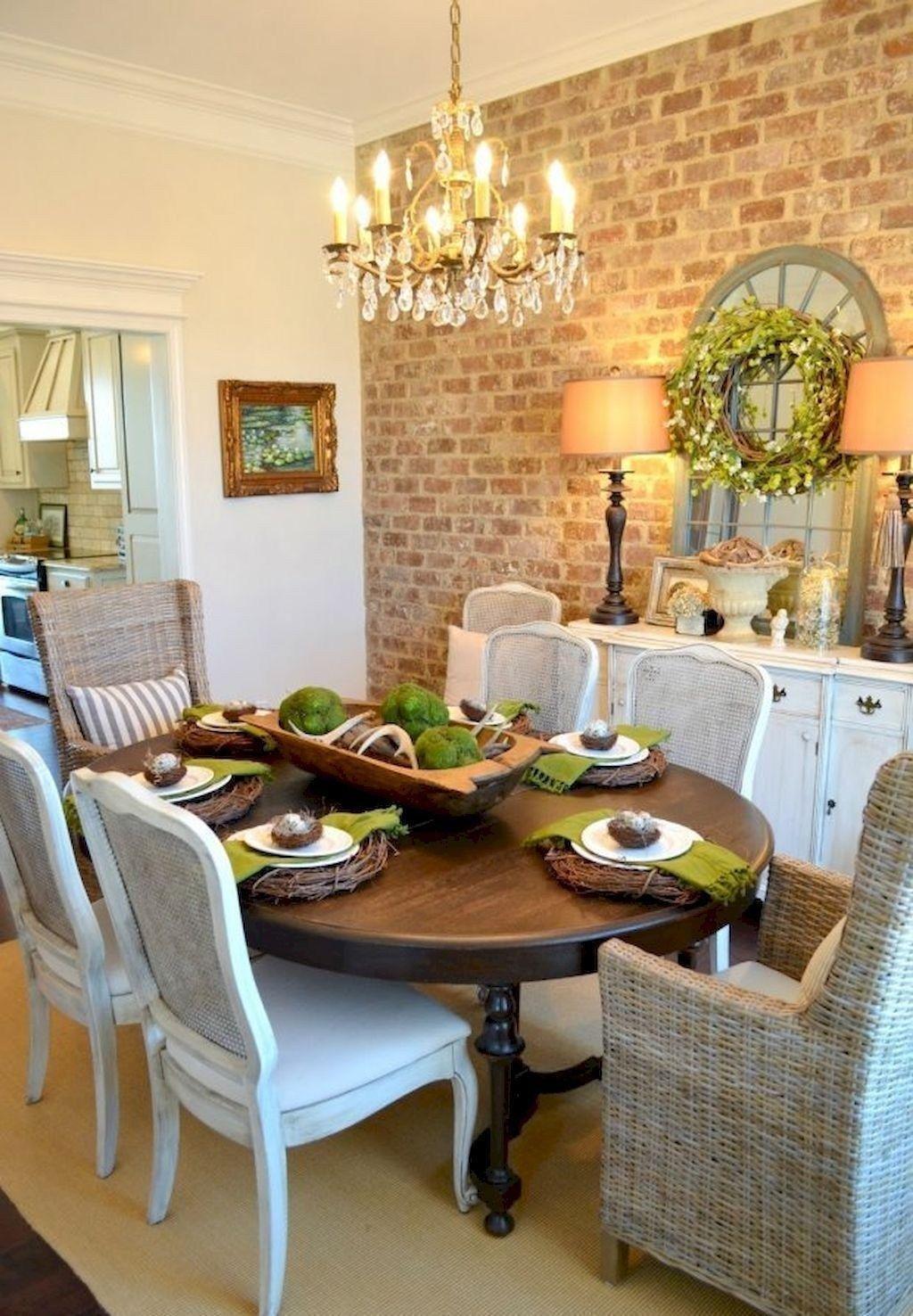 Wonderfull Spring Dining Room Decor Ideas 19