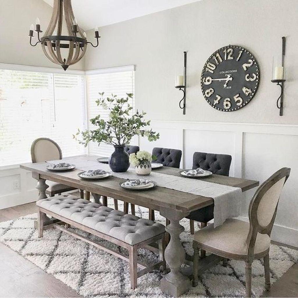 Amazing Farmhouse Dining Room Decor Ideas 13