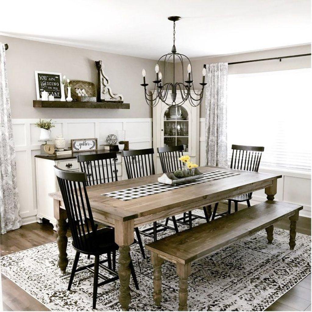 Amazing Farmhouse Dining Room Decor Ideas 23