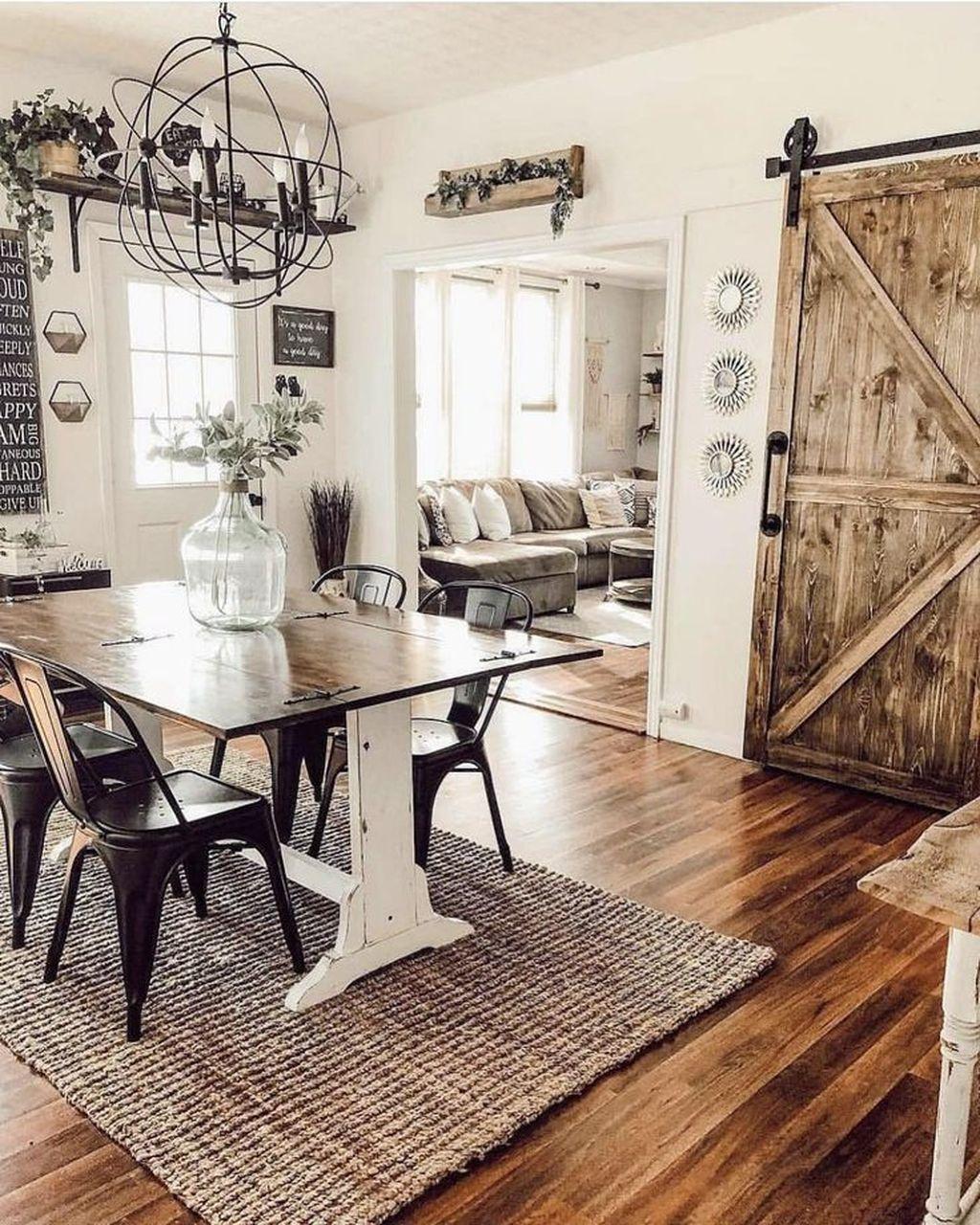 Amazing Farmhouse Dining Room Decor Ideas 27