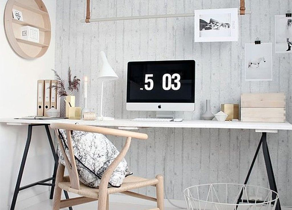 Awesome Scandinavian Home Office Design Ideas You Should Copy 23