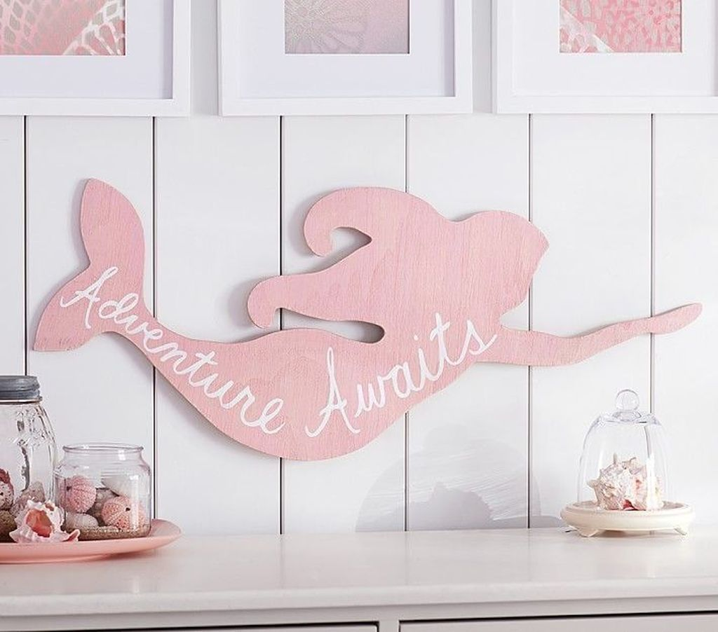 Beautiful Mermaid Theme Bedroom Decor Ideas For Girls 05