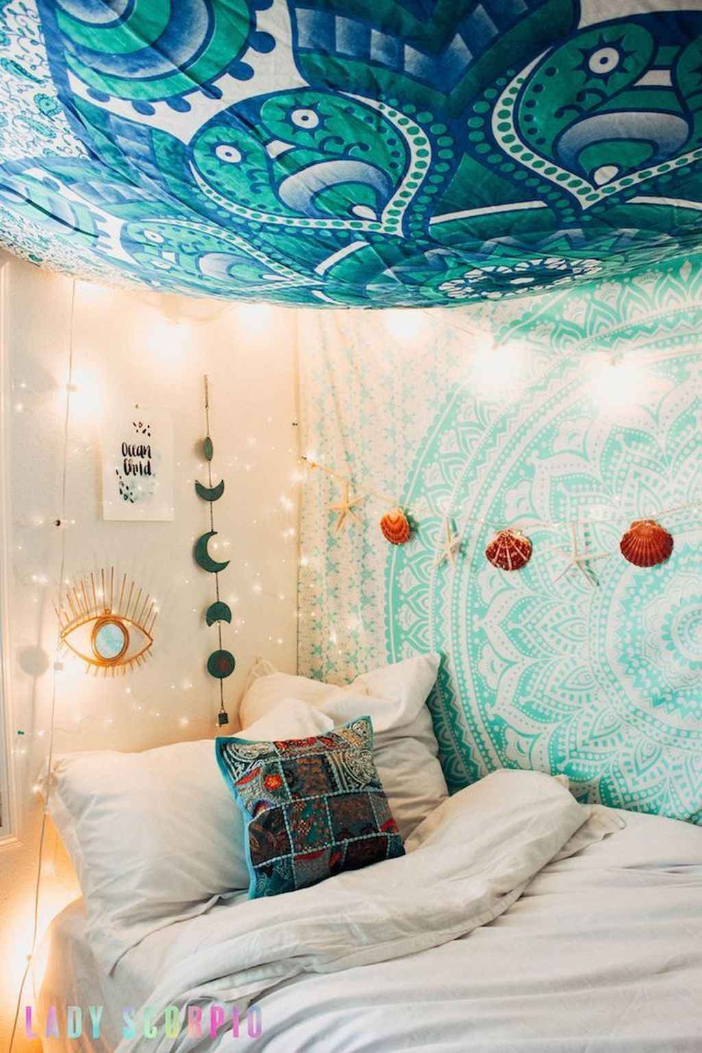 Beautiful Mermaid Theme Bedroom Decor Ideas For Girls 09