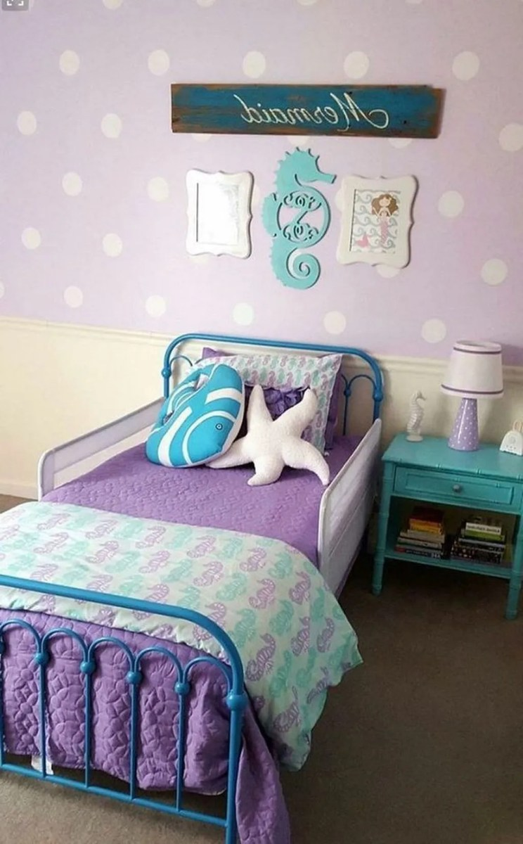 Beautiful Mermaid Theme Bedroom Decor Ideas For Girls 13