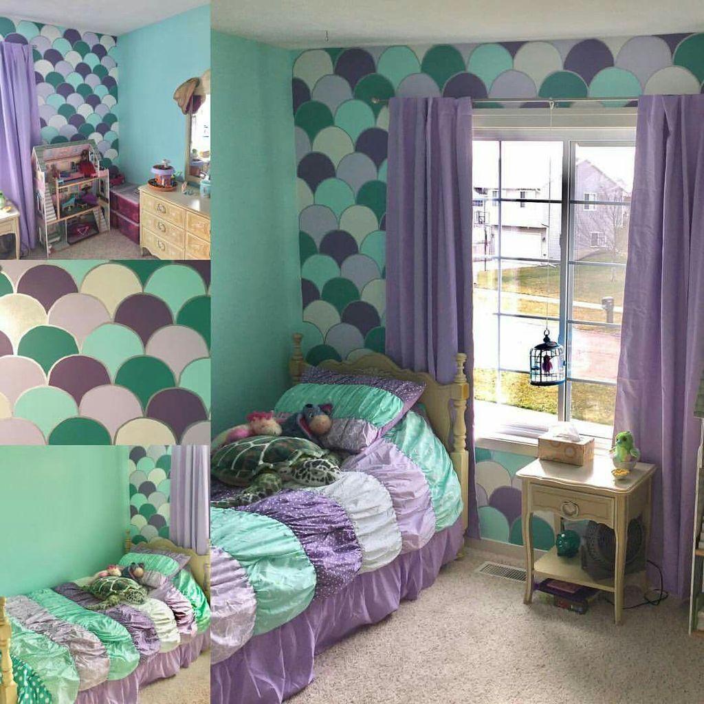 Beautiful Mermaid Theme Bedroom Decor Ideas For Girls 14