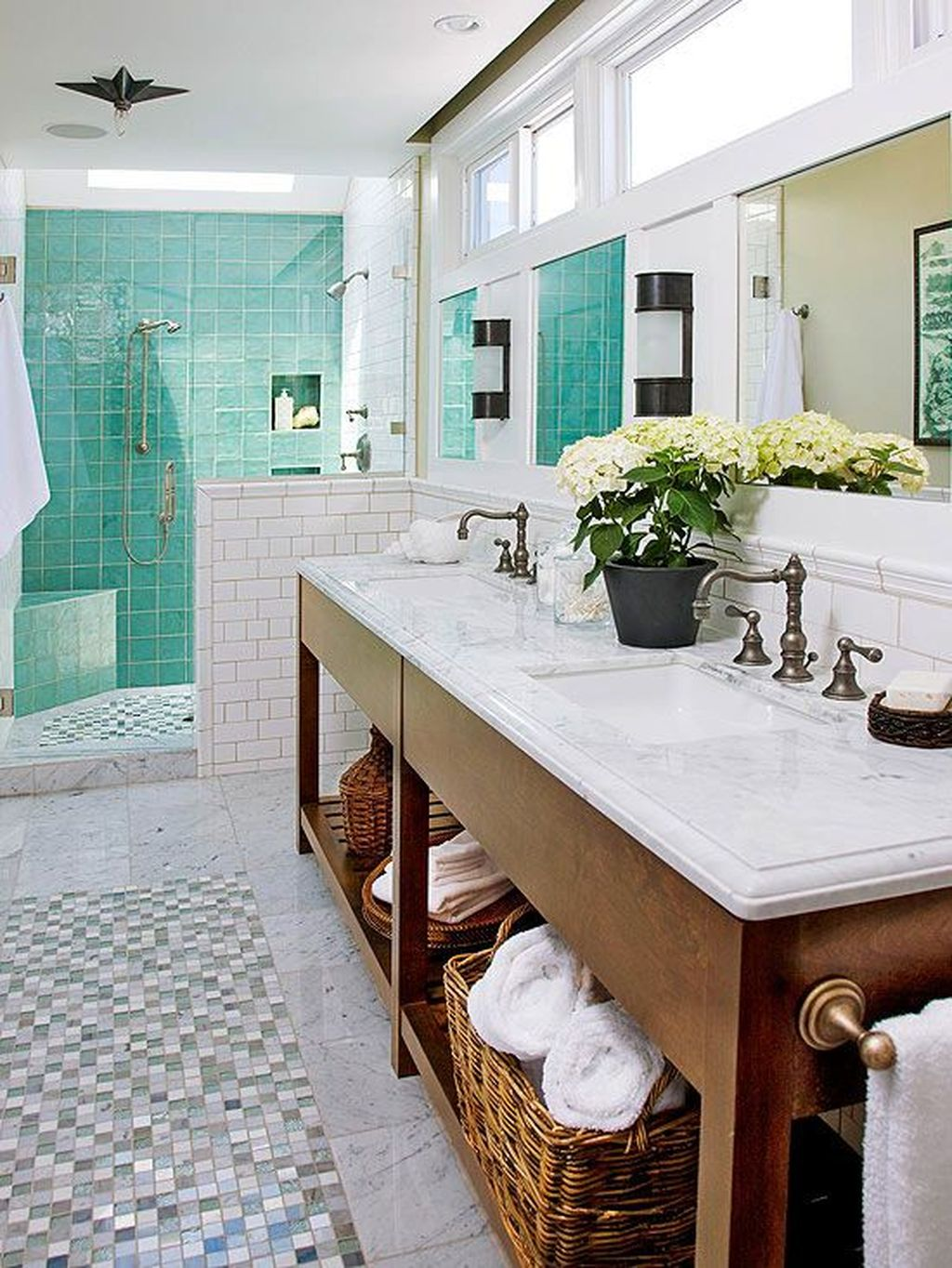 Fabulous Coastal Style Bathroom Decor Ideas 16