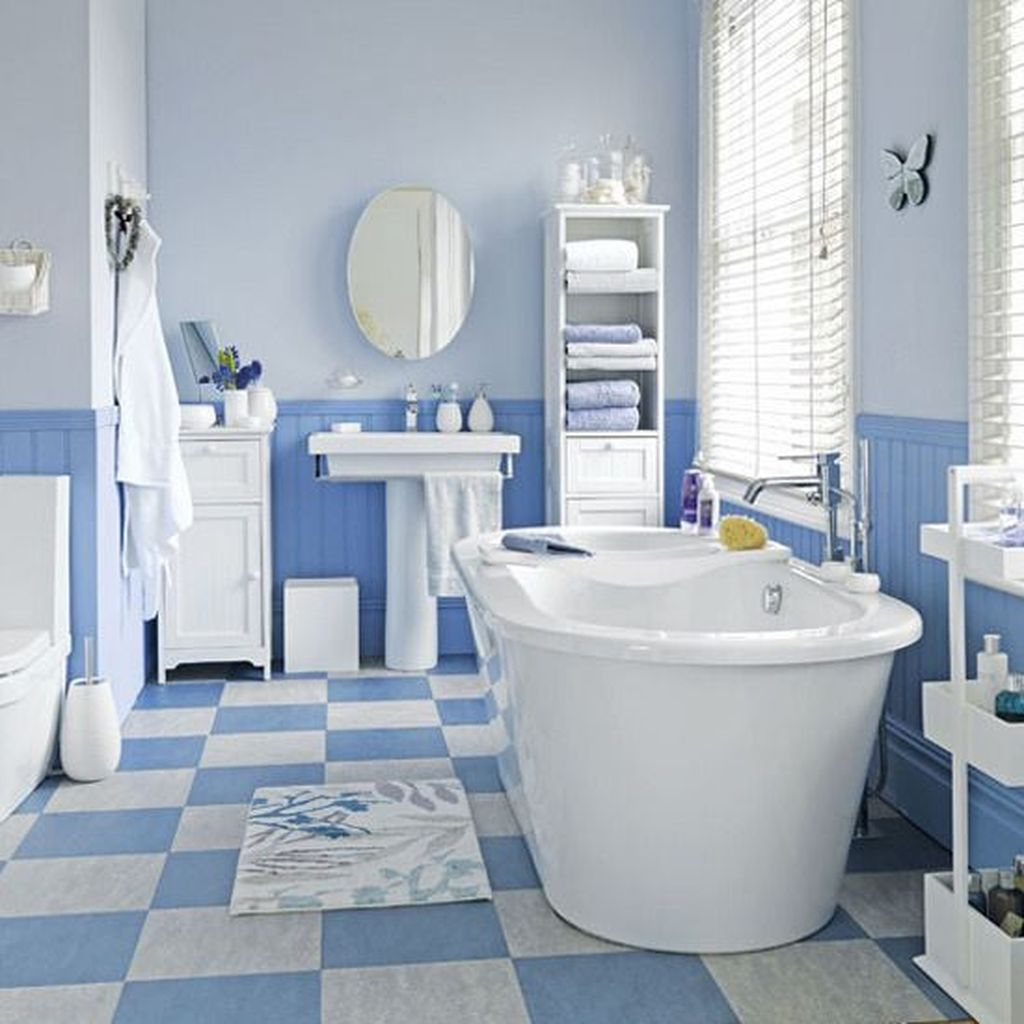 Fabulous Coastal Style Bathroom Decor Ideas 36