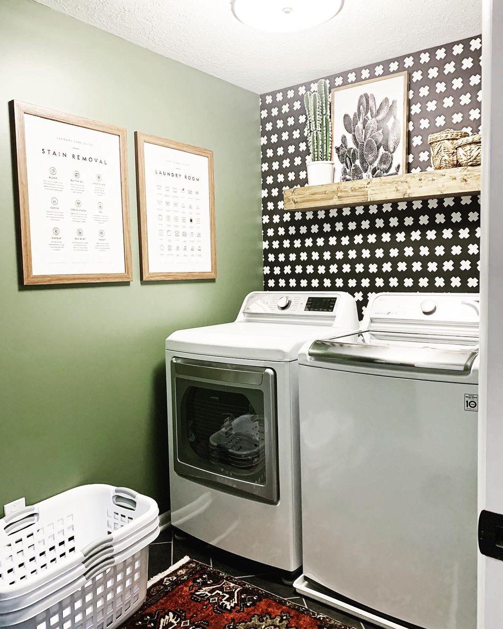 Fabulous Scandinavian Laundry Room Design Ideas 18