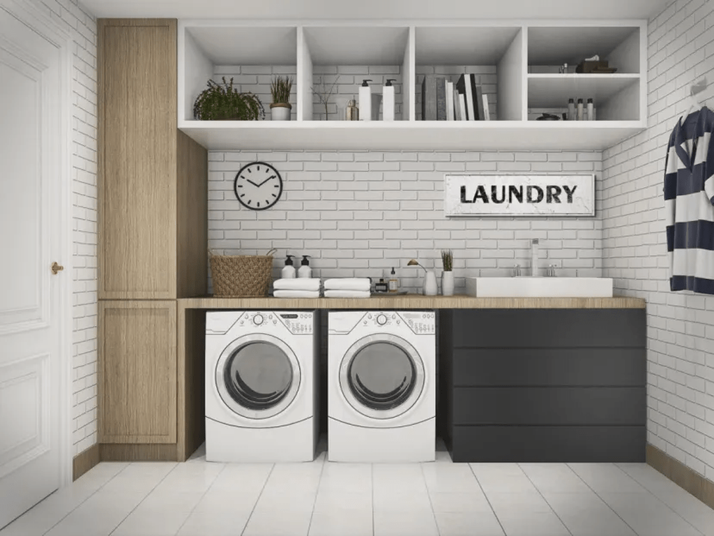 Fabulous Scandinavian Laundry Room Design Ideas 28