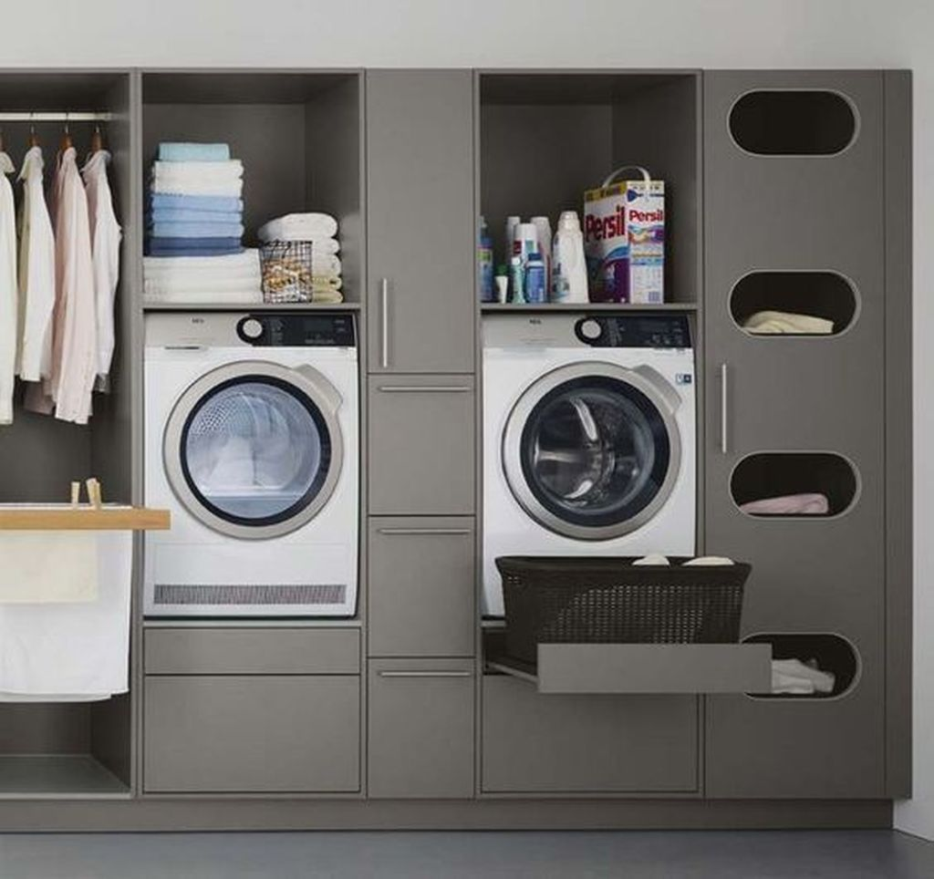 Fabulous Scandinavian Laundry Room Design Ideas 30