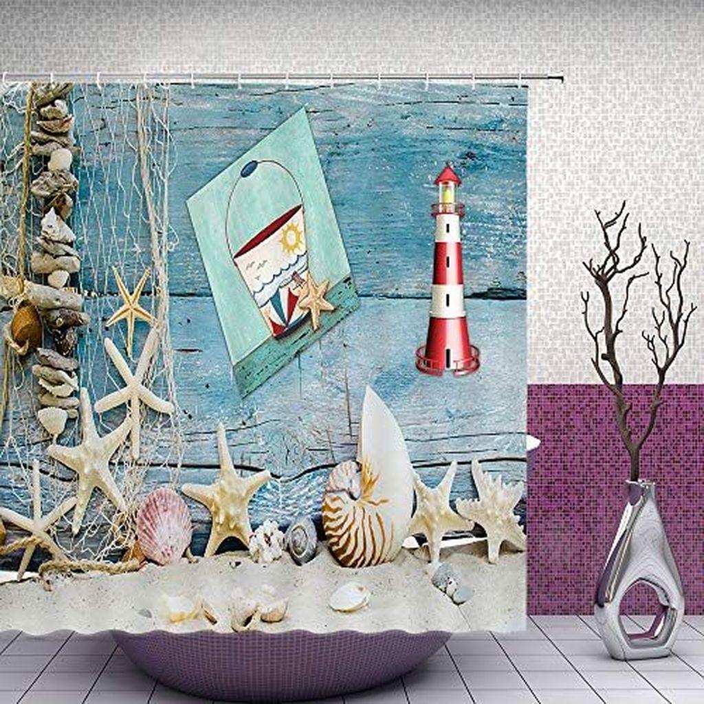 Gorgeous Beach Theme Bathroom Decorating Ideas 15