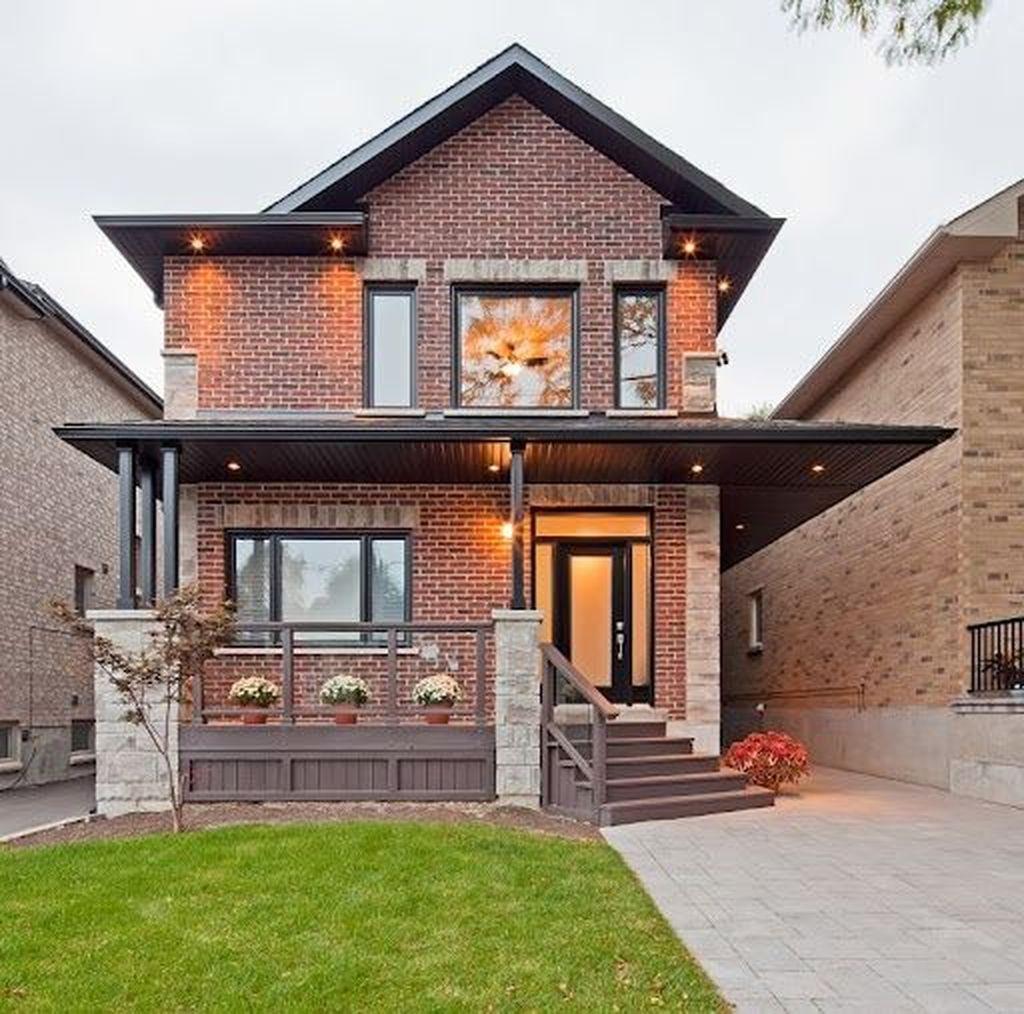 Impressive Brick House Exterior Design Ideas That You Definitely Like 18