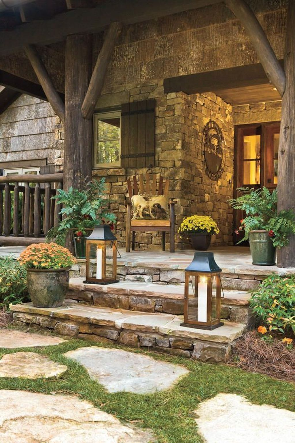 Lovely Rustic Porch Ideas To Beautify Your Home 16