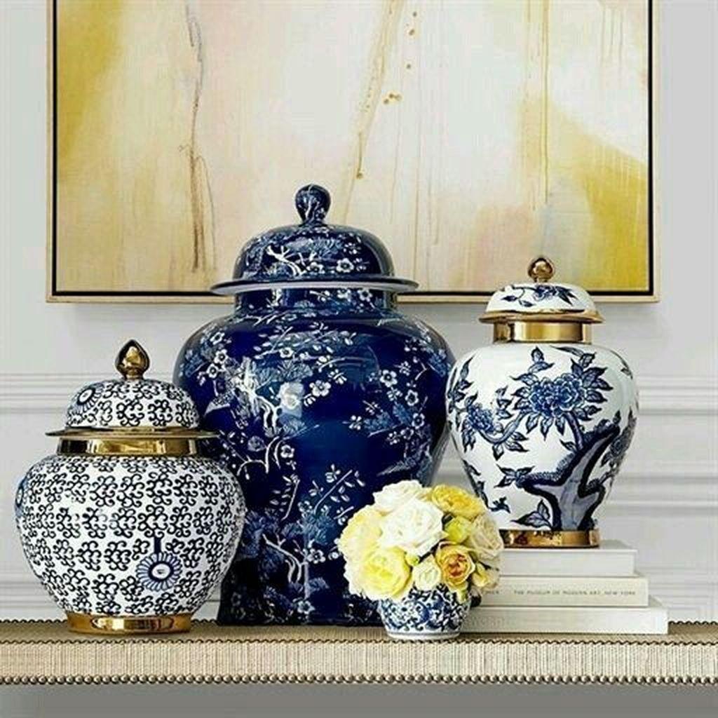 Nice Ginger Jars Decor For Living Room Decoration 18