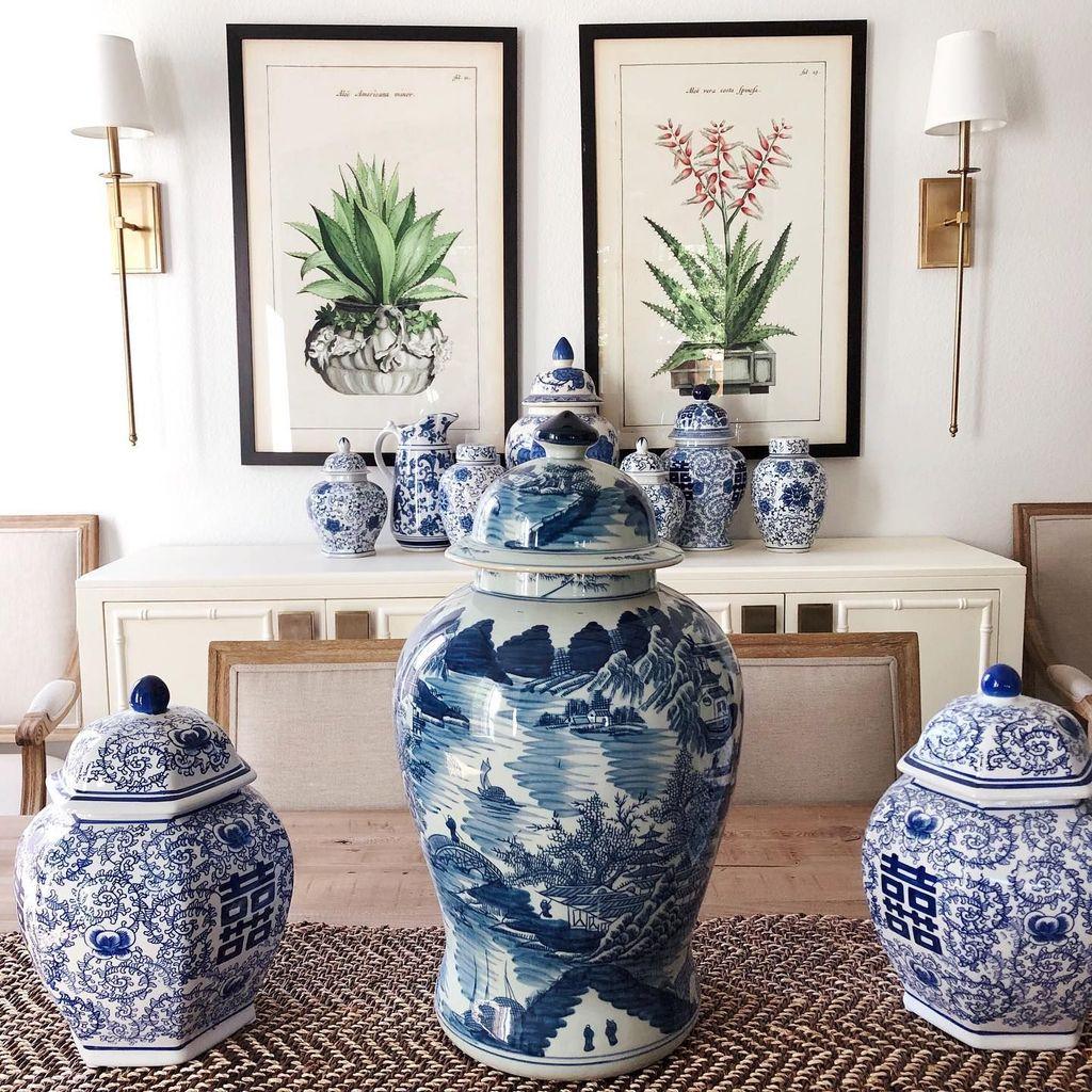 Nice Ginger Jars Decor For Living Room Decoration 20